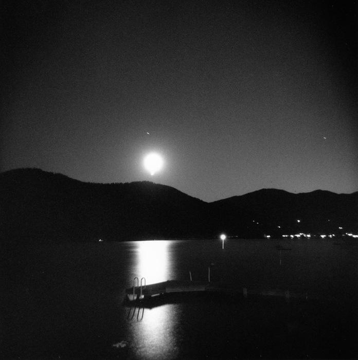 Moon rise over Lake Chelan, WA 2010